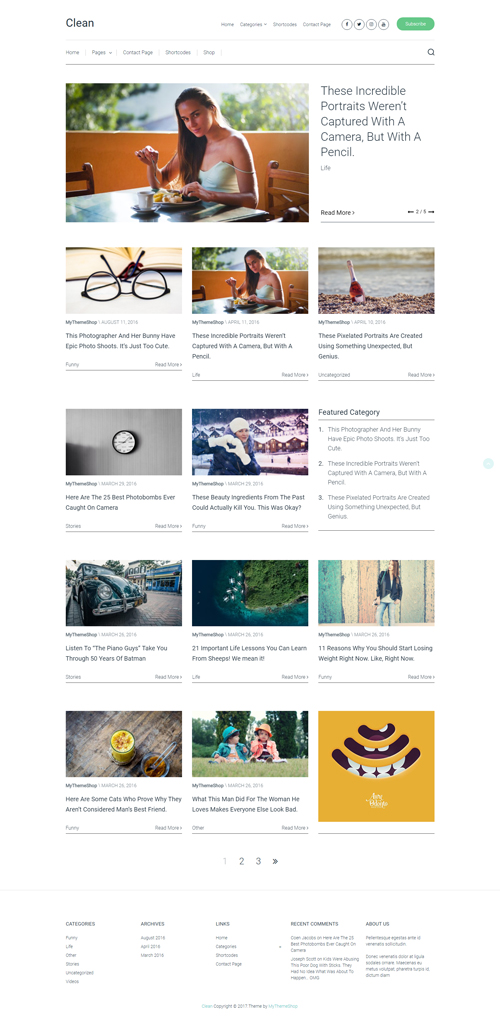 Clean WordPress Themes MyThemeShop Clean WordPress Theme