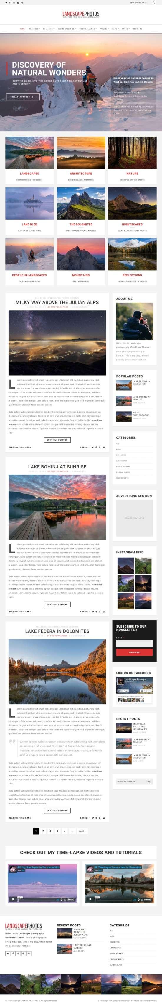 landscape photo blog templatemonster 01 550x3397 - Landscape Photography WordPress Theme