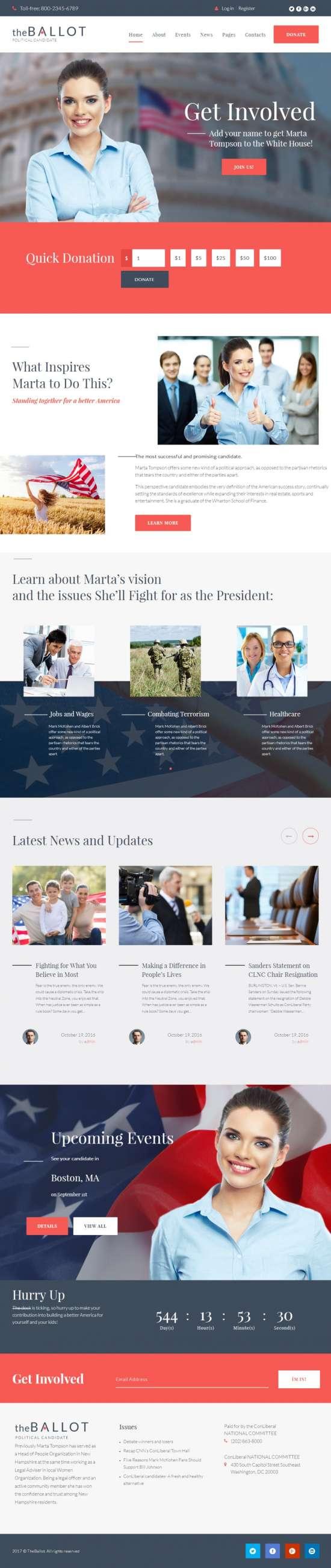 the ballot–political candidate wordpress theme 550x2600 - The Ballot WordPress Theme