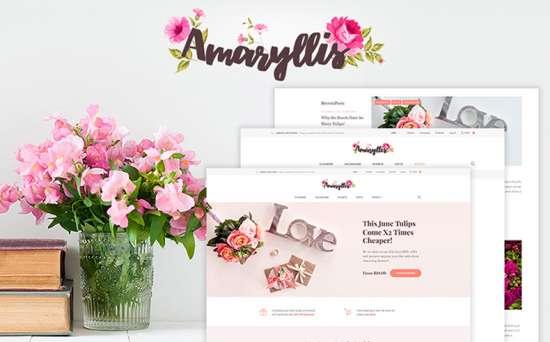 amaryllis wordpress theme 01 550x342 - Top 20 Fresh Feminine & Minimal WordPress Themes