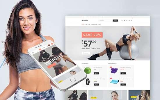 athletic wordpress theme 01 550x342 - Top 20 Fresh Feminine & Minimal WordPress Themes