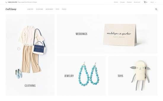 craftstamp wordpress theme 01 550x342 - Top 20 Fresh Feminine & Minimal WordPress Themes
