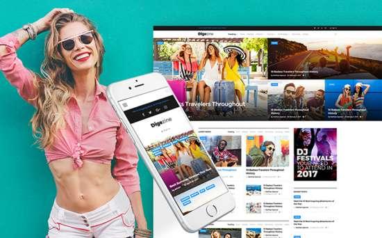 digizine wordpress theme 01 550x342 - Top 20 Fresh Feminine & Minimal WordPress Themes