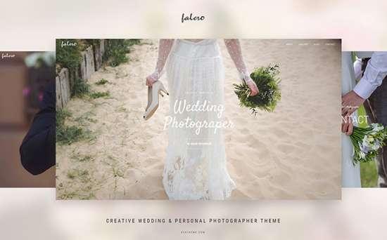 falero wordpress theme 01 550x342 - Top 20 Fresh Feminine & Minimal WordPress Themes