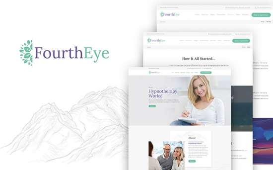 fourtheye wordpress theme 01 550x342 - Top 20 Fresh Feminine & Minimal WordPress Themes