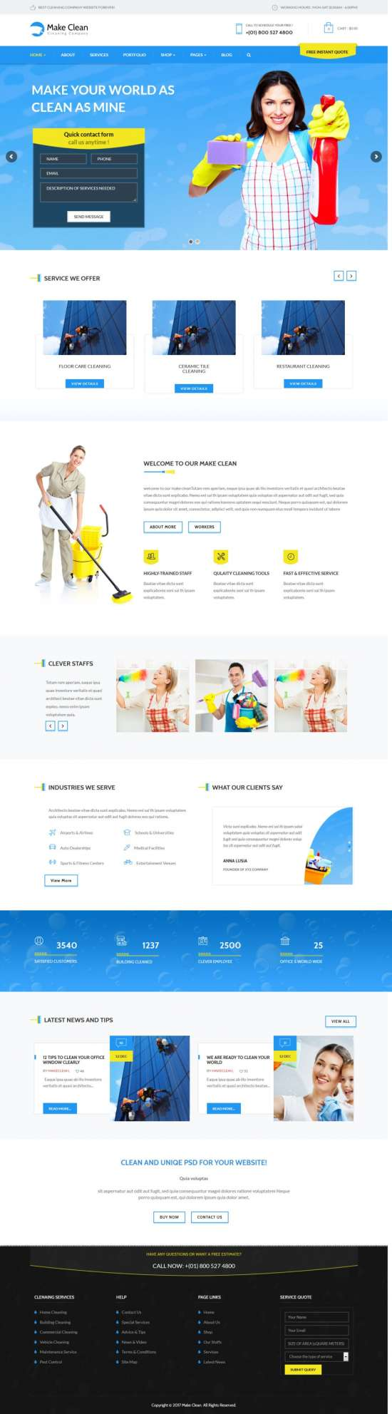 make clean wordpress theme 01 550x1984 - Make Clean WordPress Theme