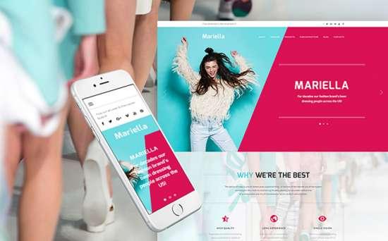 mariella wordpress theme 01 550x342 - Top 20 Fresh Feminine & Minimal WordPress Themes