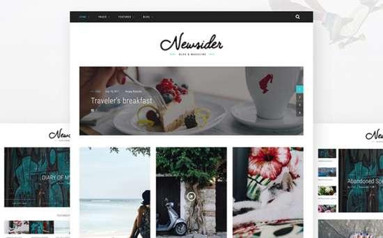 newsider wordpress theme 01 550x342 - Top 20 Fresh Feminine & Minimal WordPress Themes