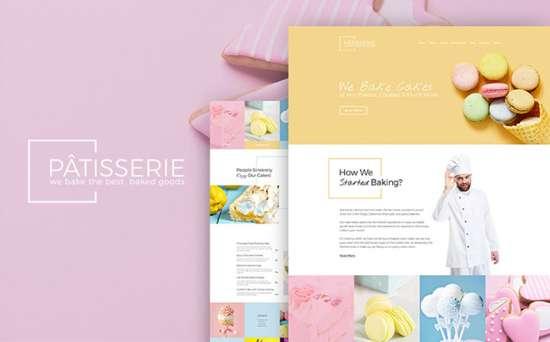 patisserie wordpress theme 01 550x342 - Top 20 Fresh Feminine & Minimal WordPress Themes
