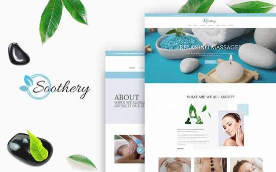soothery wordpress theme 01 550x342 - Top 20 Fresh Feminine & Minimal WordPress Themes