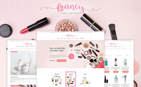 tm francy wordpress theme 01 550x342 - Top 20 Fresh Feminine & Minimal WordPress Themes
