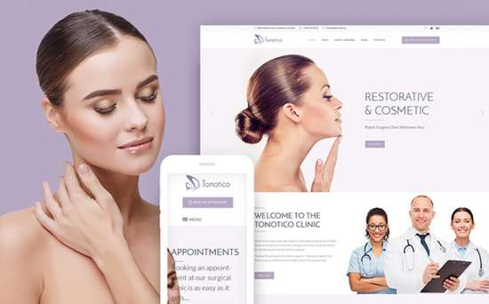 tonotico wordpress theme 01 550x342 - Top 20 Fresh Feminine & Minimal WordPress Themes