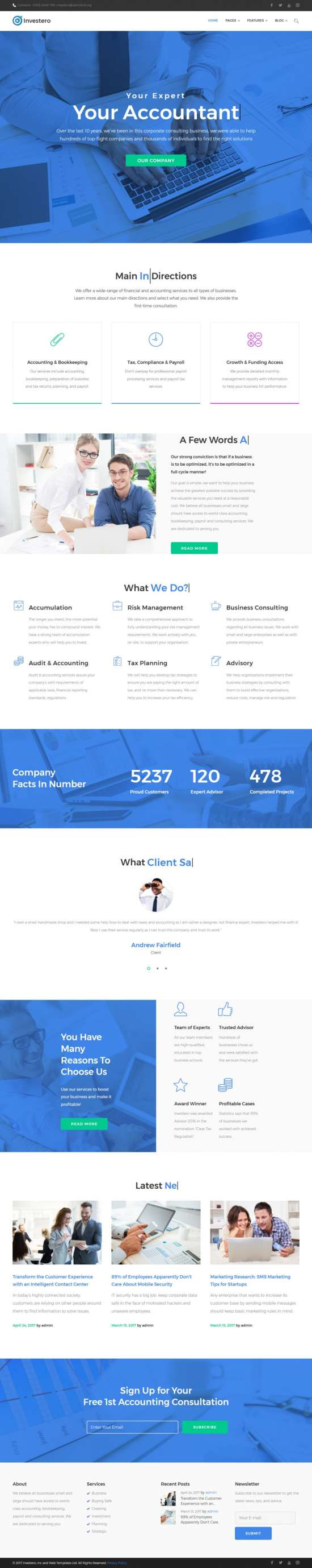 investero wordpress theme 01 550x2758 - Investero WordPress Theme