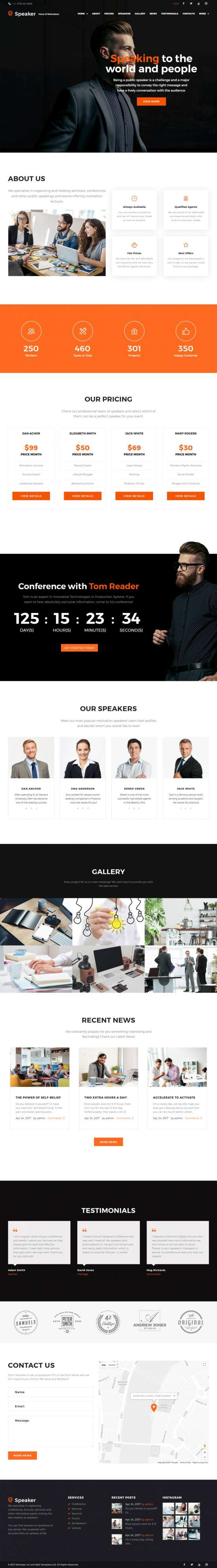 speaker wordpress theme 550x3982 - Speaker WordPress Theme