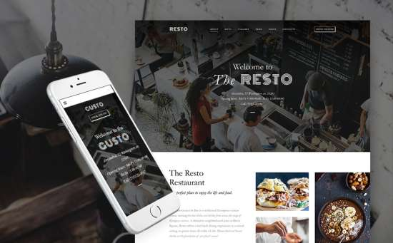 61150 big 550x341 - 17 Mouthwatering Food & Restaurant WordPress Themes