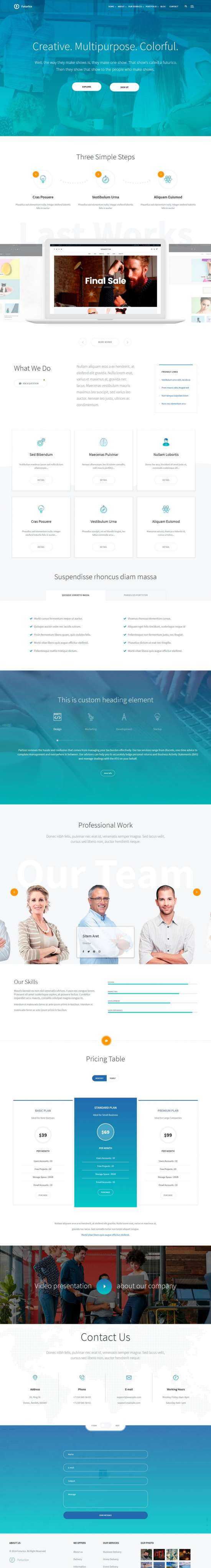 futurico wordpress theme 01 550x4077 - Futurico WordPress Theme