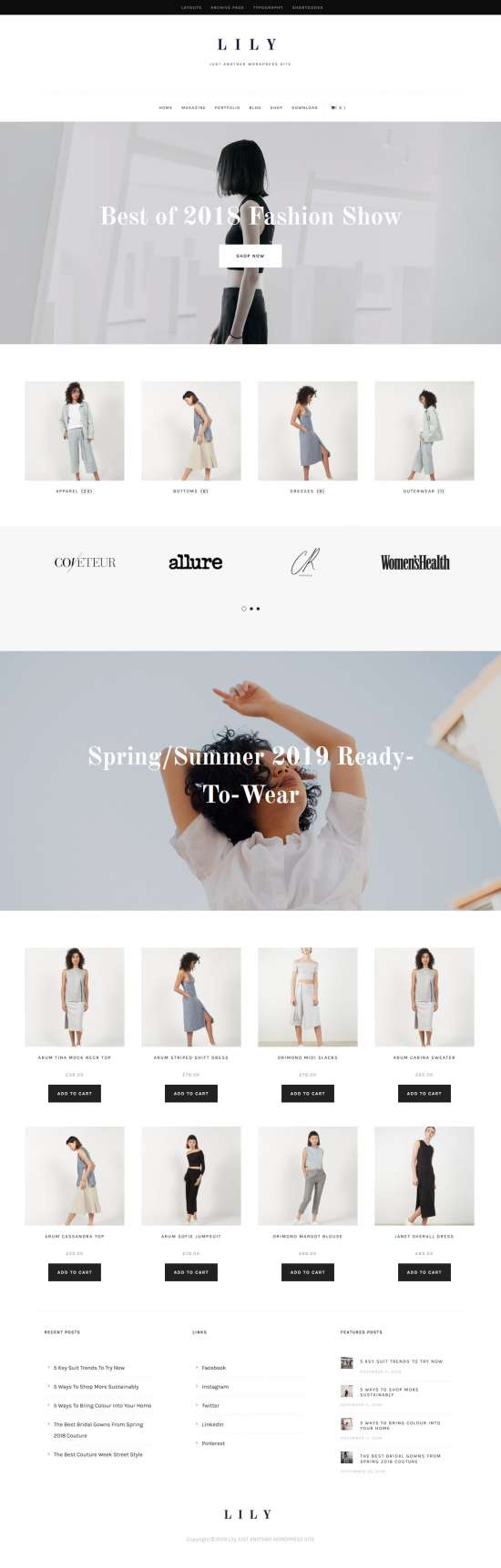 lily wordpress theme 01 550x1723 - Lily WordPress Theme