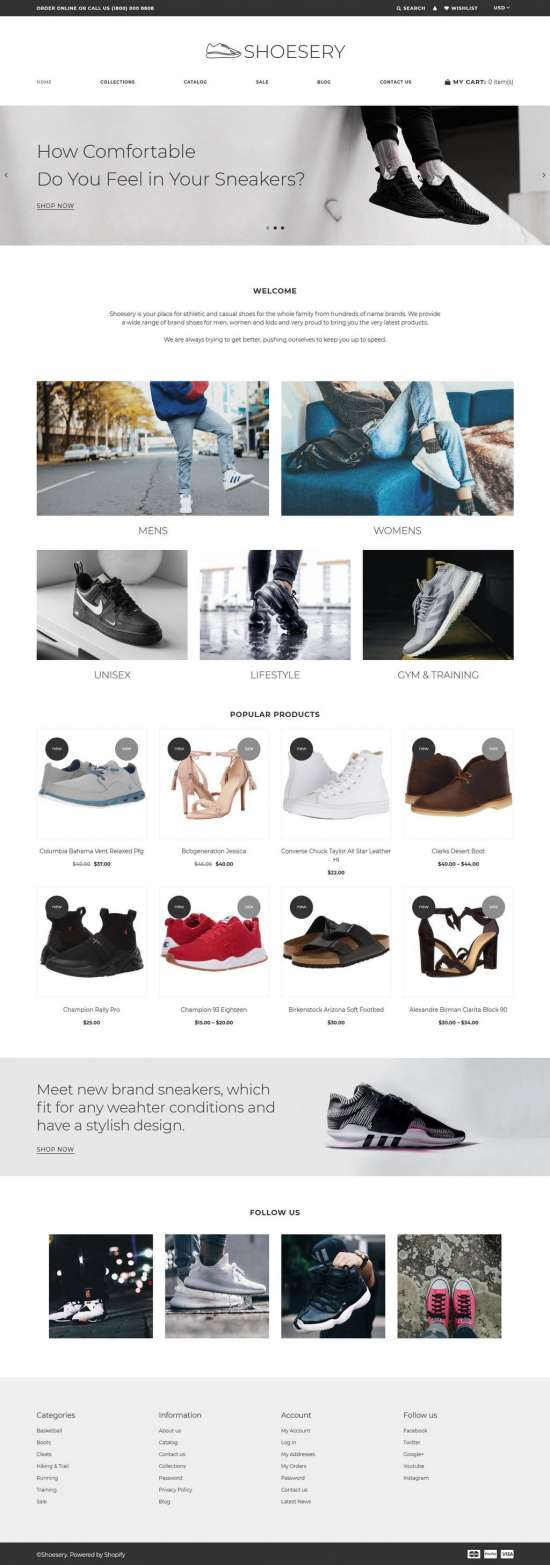shoesery shopify theme 01 550x1565 - Shoesery Shopify Theme