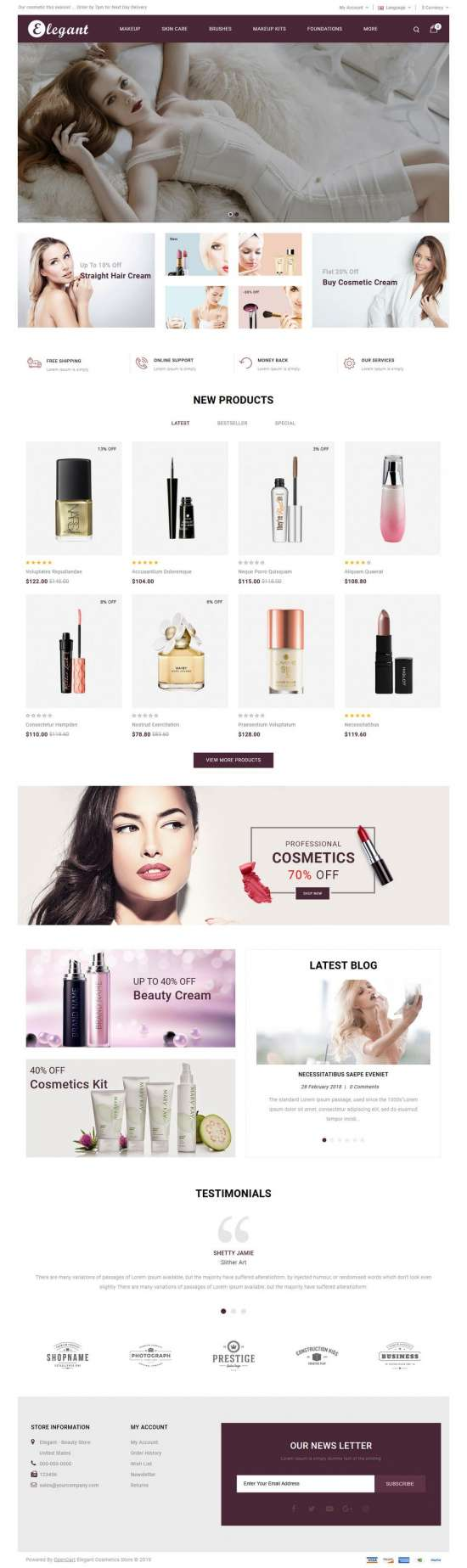 elegant cosmetic opencart theme 01 550x1847 - Elegant Cosmetic Opencart Theme