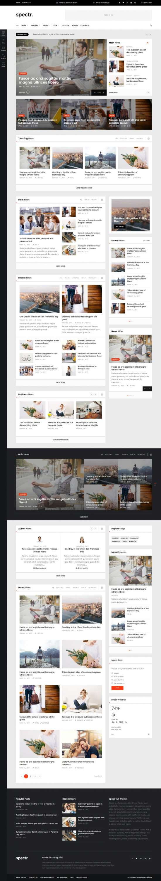spectr wordpress theme 01 550x3000 - Spectr WordPress Theme