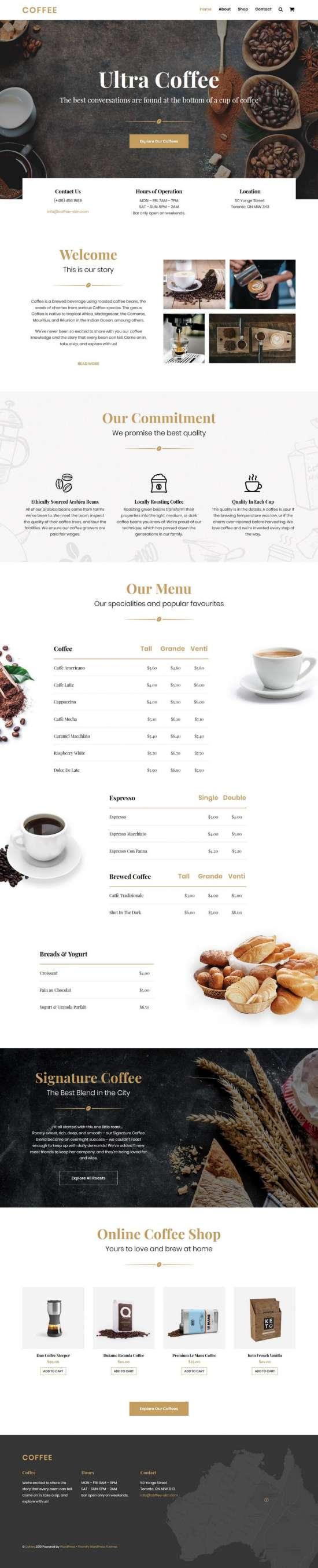 ultra coffee wordpress theme 01 550x2708 - Ultra Coffee WordPress Theme