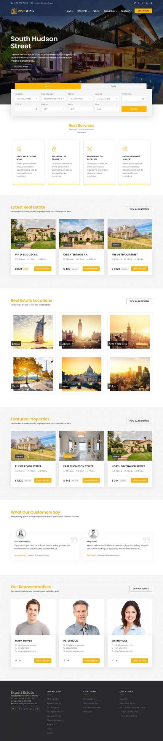 expertestate wordpress theme 01 550x2488 - ExpertEstate WordPress Theme