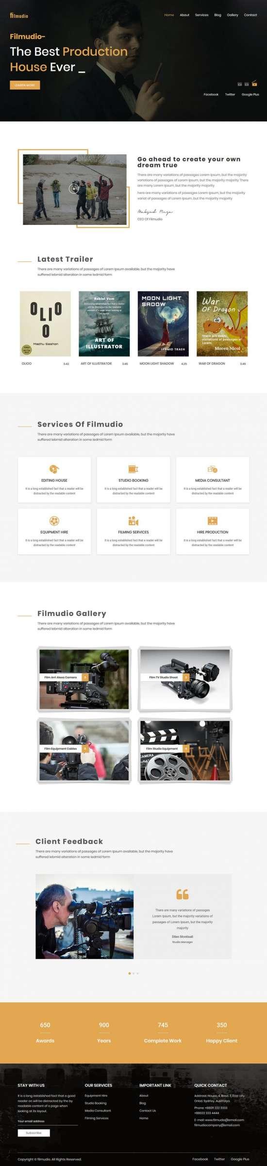 filmudio wordpress theme 01 550x2400 - Filmudio WordPress Theme