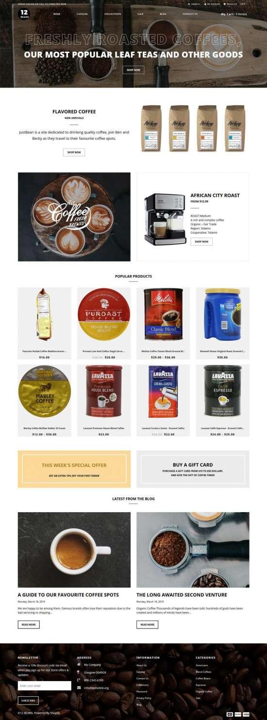 12 beans shopify theme 01 550x1479 - 12 Beans Shopify Theme