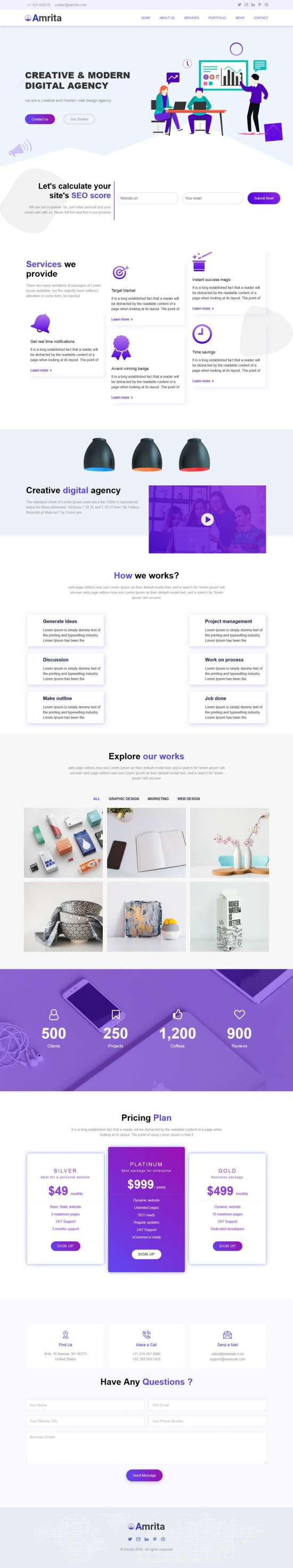 amrita wordpress theme 01 550x2946 - Amrita WordPress Theme
