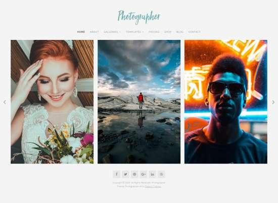 photographer wordpress theme 01 550x402 - Organic Photographer WordPress Theme