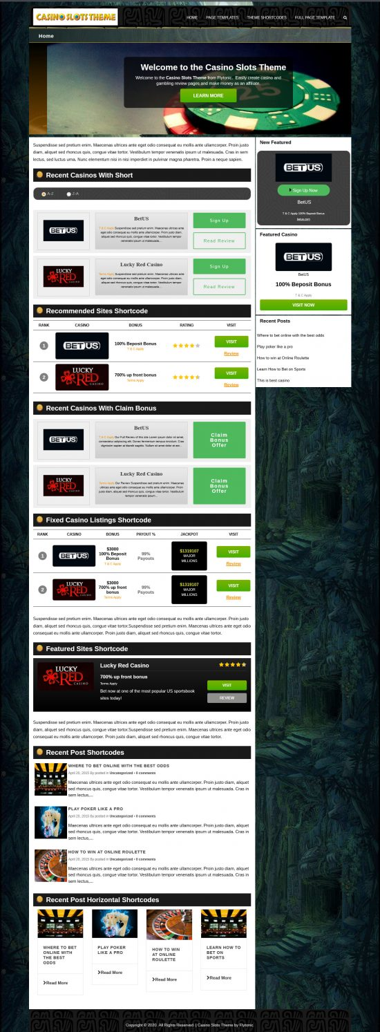 casino slots wordpress theme 01 550x1493 - Casino Slots WordPress Theme