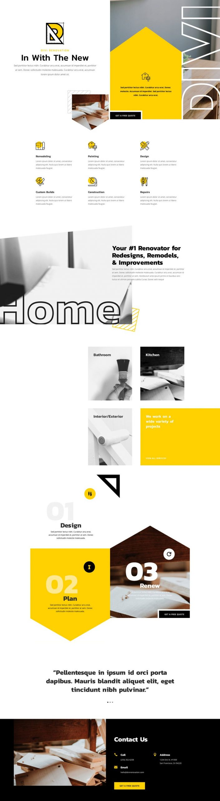 renovation landing page scaled - Renovation Divi Layout By Elegant Themes