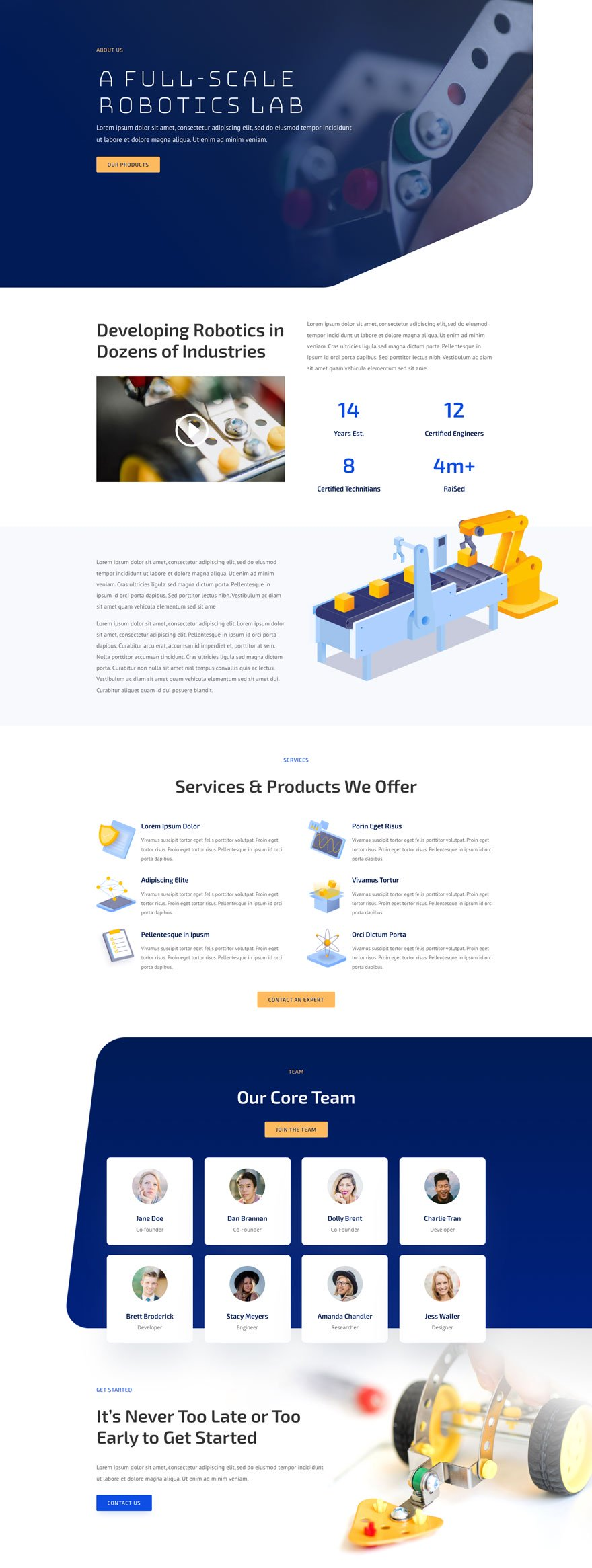 robotics about page - Robotics Divi Layout By Elegant Themes