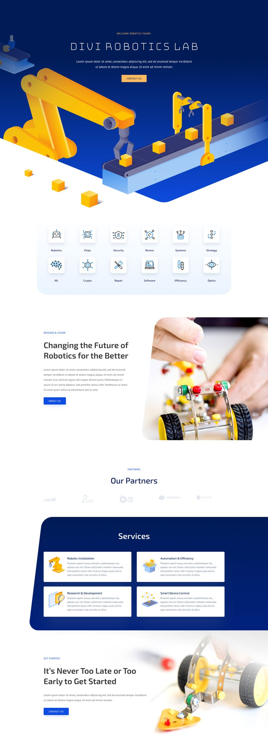 robotics home page - Robotics Divi Layout By Elegant Themes