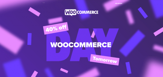woocommerce day 40 discount july 2020 01 550x261 - Woocommerce Day 40% Discount (July 2020)