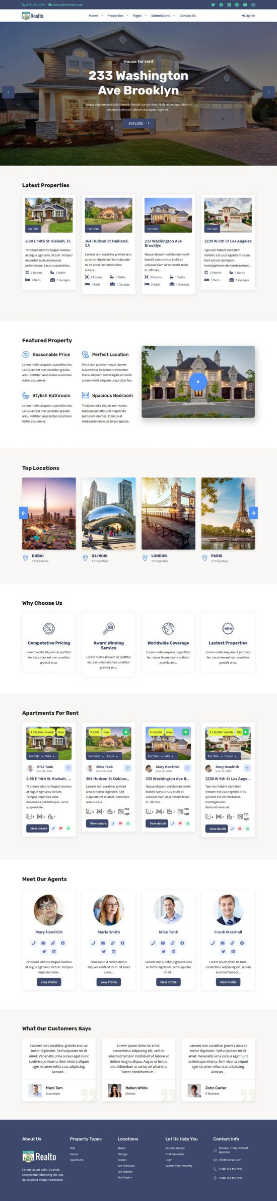 realto premium wordpress theme 01 550x2379 - Realto Premium WordPress Theme