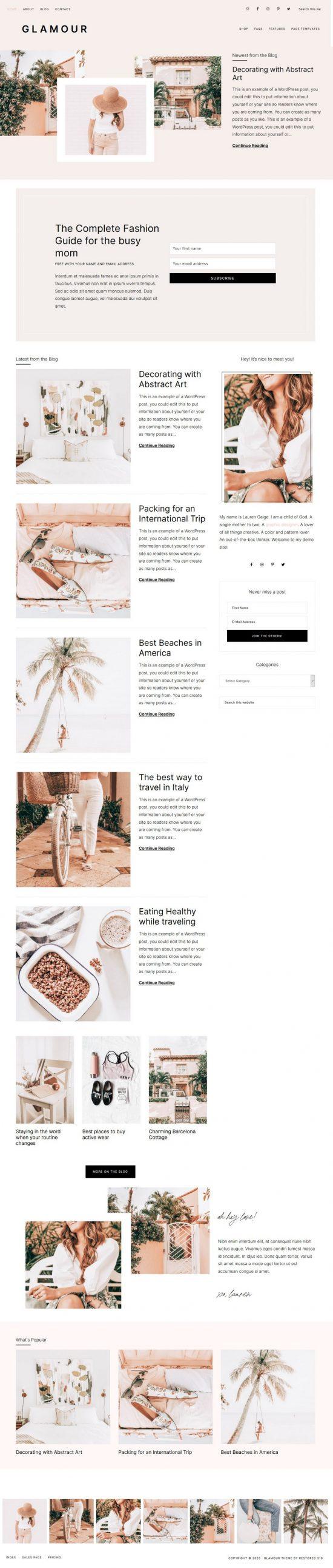 restored316designs glamour wordpress theme 01 550x2583 - Restored316Designs Glamour WordPress Theme