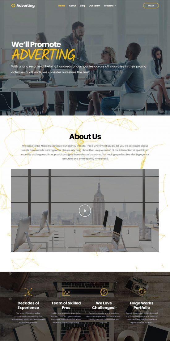 adverting premium wordpress theme 01 550x1099 - Adverting Premium WordPress Theme