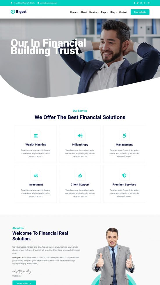 bigest financial premium wordpress theme 01 550x978 - Bigest Financial Premium WordPress Theme