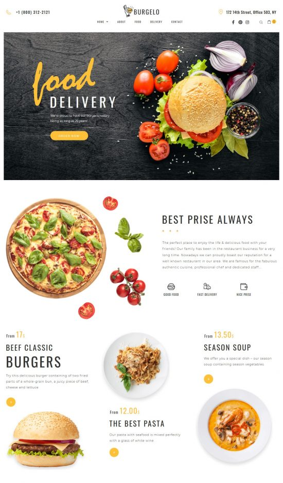 burgelo premium wordpress theme 01 550x939 - Burgelo Premium WordPress Theme