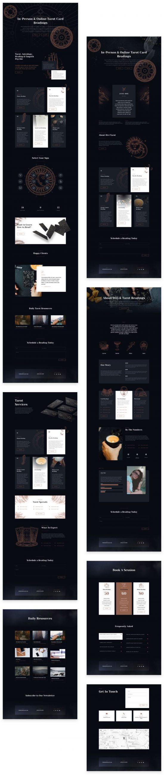 divi tarot wordpress layout by elegant themes 01 550x2601 - Divi Tarot WordPress Layout By Elegant Themes