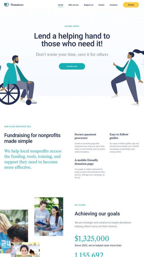 donatero premium wordpress theme 01 550x978 - Donatero Premium WordPress Theme
