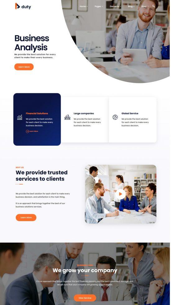 duty business premium wordpress theme 01 550x978 - Duty Business Premium WordPress Theme