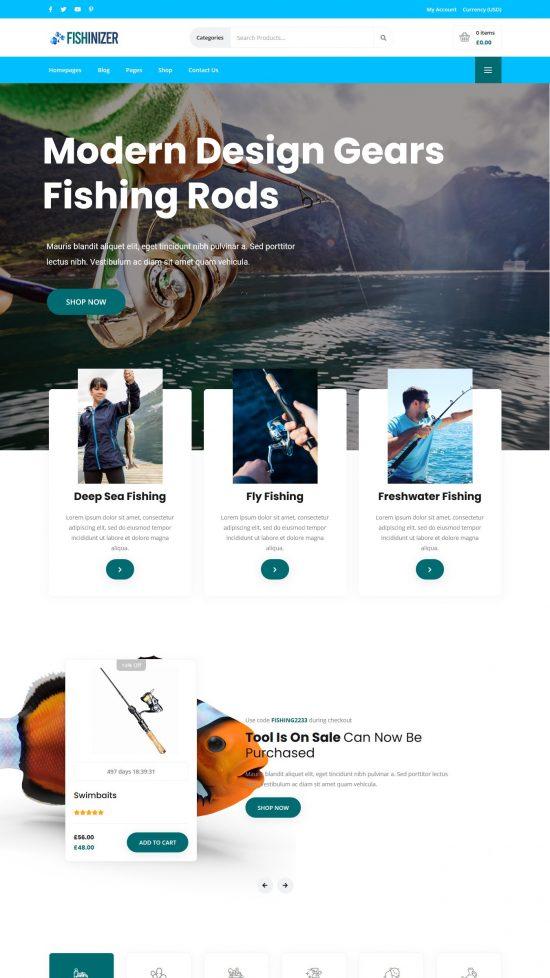 fishnizer–premium wordpress theme 01 550x978 - Fishinizer Premium WordPress Theme