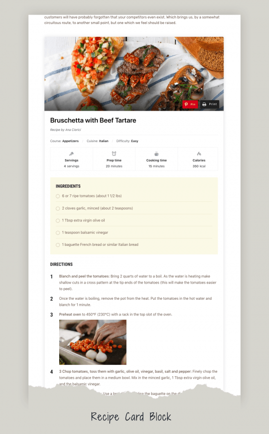 gourmand recipe block 550x886 - Gourmand Premium WordPress Theme