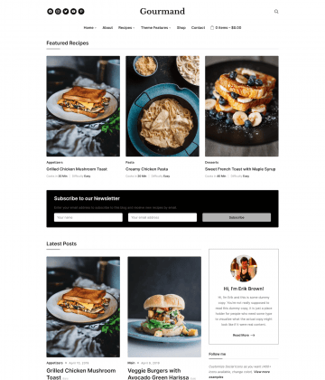 gourmand - Wpzoom Premium Wordpress Themes