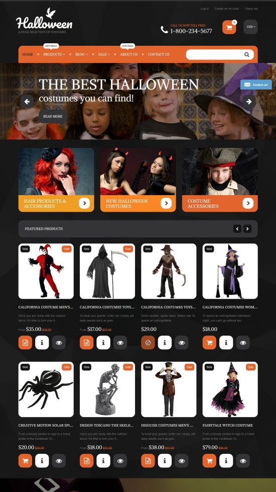 halloween costumes premium shopify theme 01 550x978 - Halloween Costumes Premium Shopify Theme
