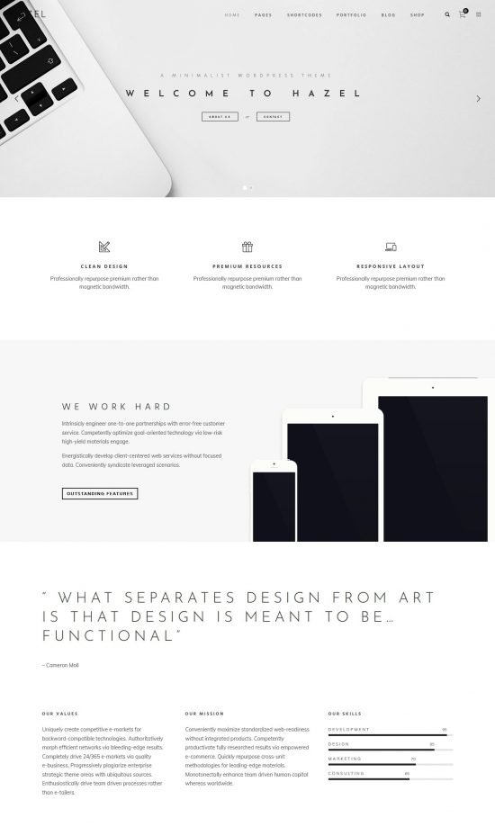 hazel premium wordpress theme 01 550x919 - Hazel Premium WordPress Theme