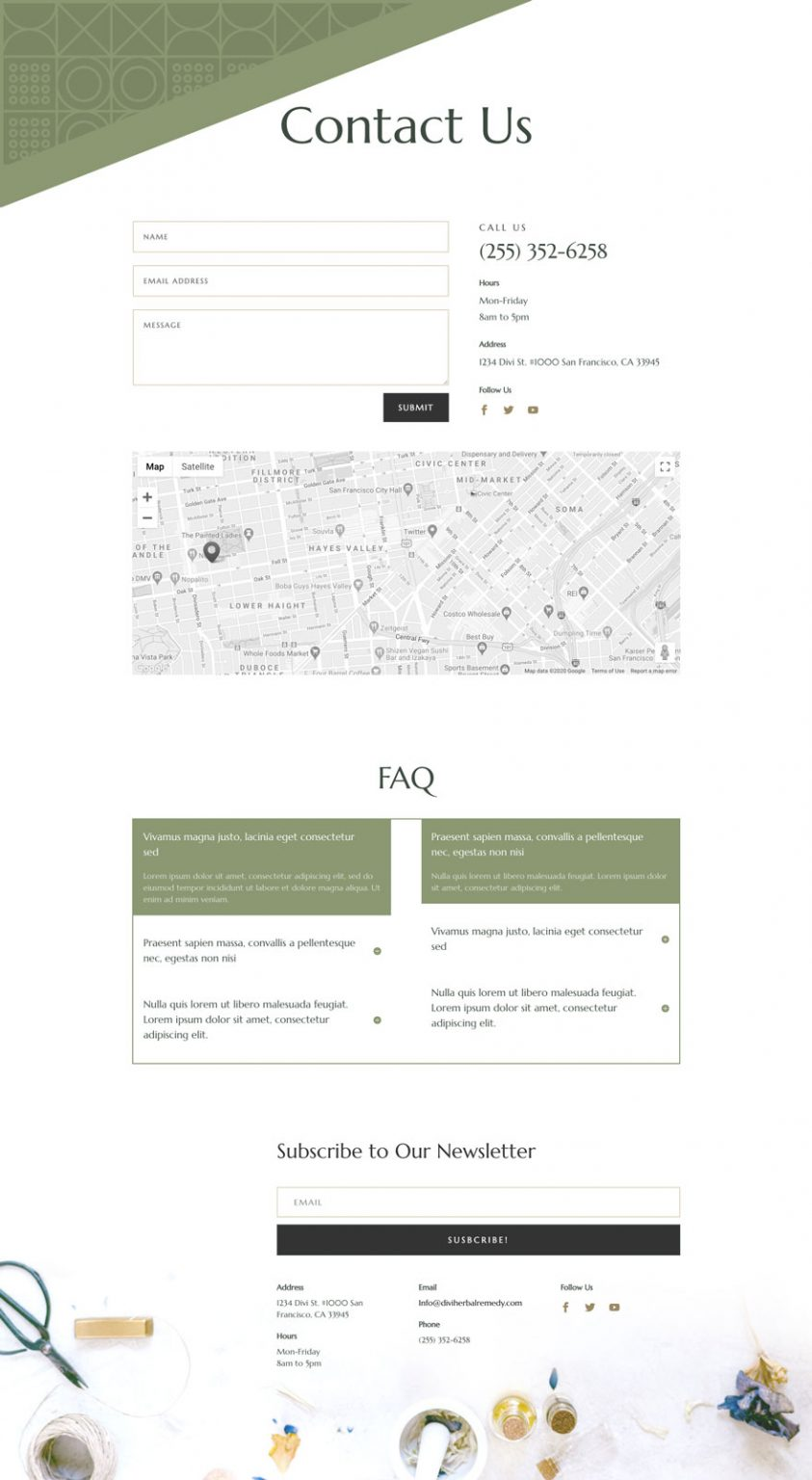 herbal remedy contact page 843x1536 1 - Herbal Remedy Divi Layout By Elegant Themes