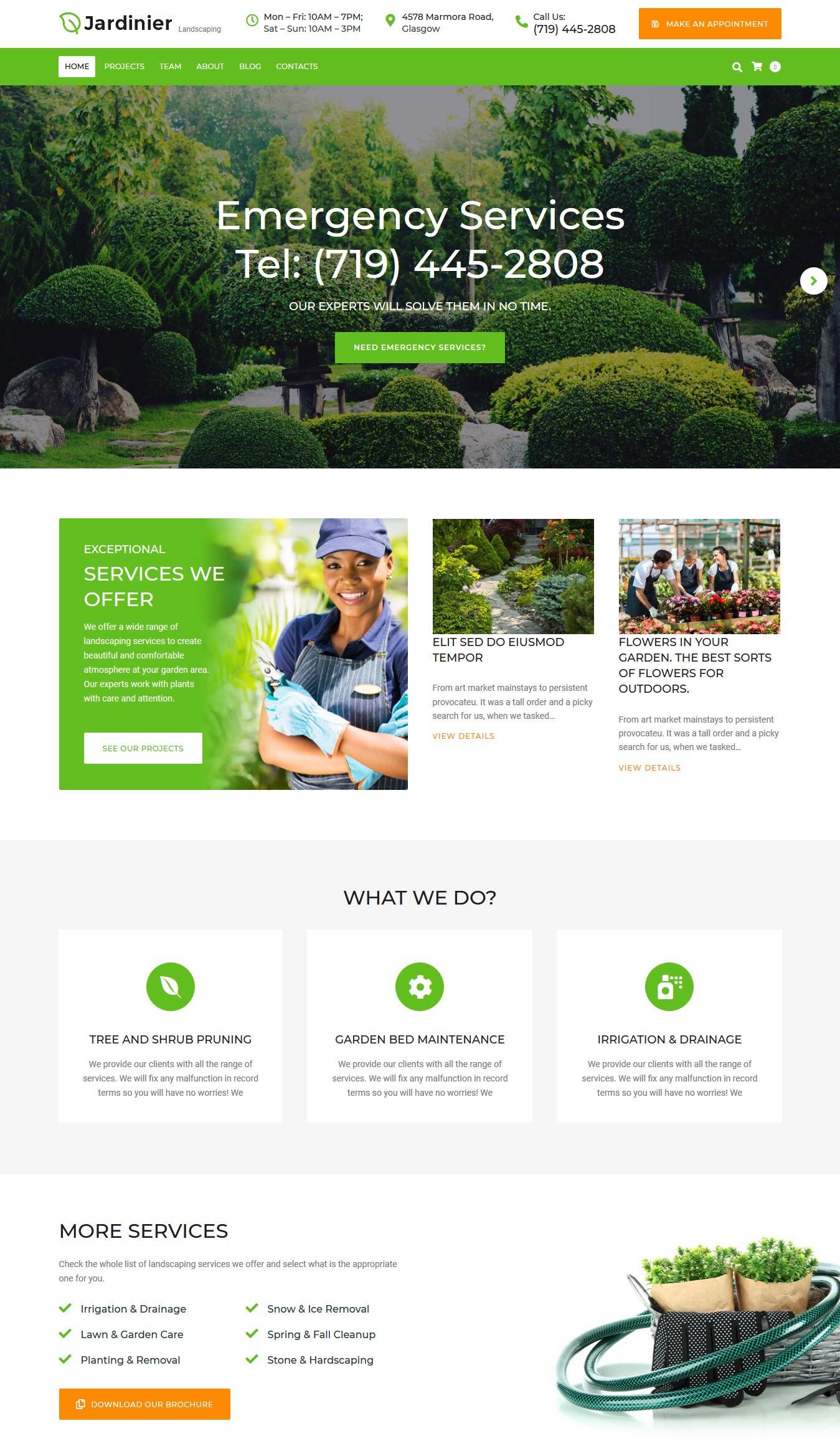 jardinier premium wordpress theme 01 - Jardinier Premium WordPress Theme